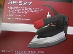 Sapporo SP-527, Gravity Feed Water Bottle Steam Iron